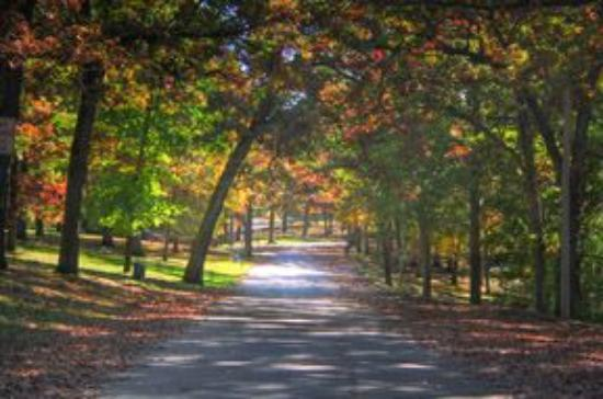 Dubuque, Αϊόβα: A beautiful lane in a beautiful park.