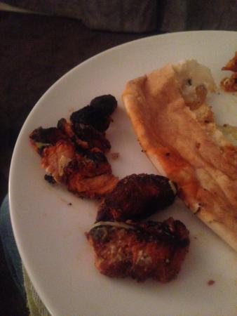 Walkden, UK: Charcoaled Chicken - oh no Spicey Bites, please no more!
