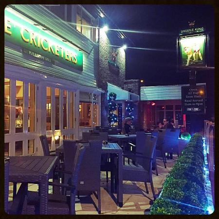 Southwick, UK: The Patio at night