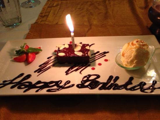 Bussaba Thai Restaurant Hy Birthday Dessert