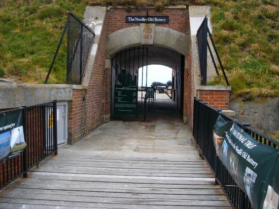 Totland, UK: Old Battery Entrance, Photo by Martin Robbins