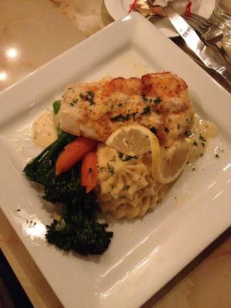 Plymouth, WI: Fresh crusted parmesan cod