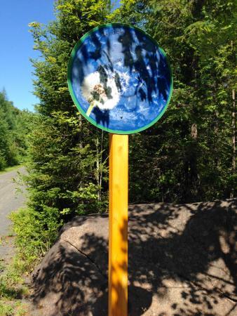 Le Petit Train du Nord Bike Path: bike path sign
