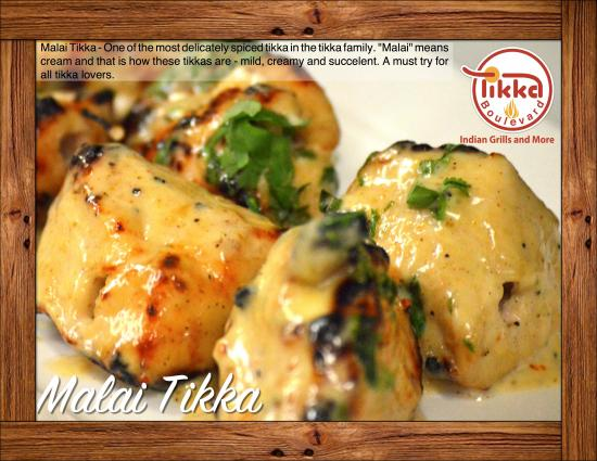 "Barrie, Kanada: Here is another one of our delicious tikka. ""Malai Tikka"". A must try for all tikka lovers."