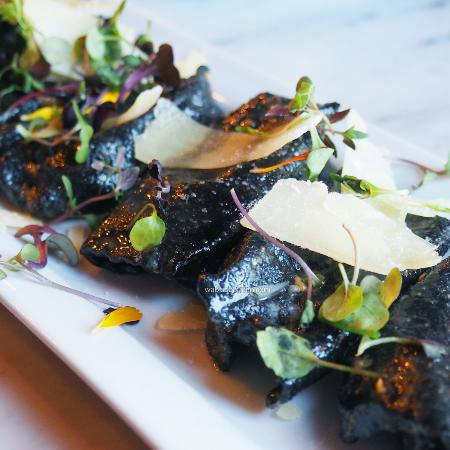Solana Beach, Californië: Sweet Potato and Mascarpone Ravioli