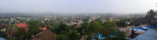 Cahal Pech Village Resort: The fog of San Ignacio