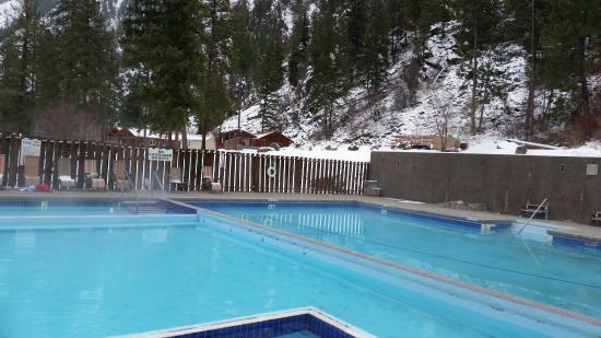View of hot pools.