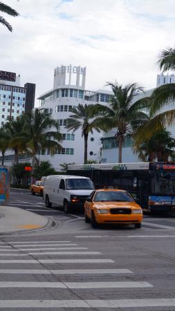 Albion South Beach: Visto do Hotel ao Fundo