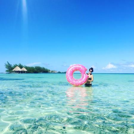 Coco Plum Island Resort: The amazingly clear water!