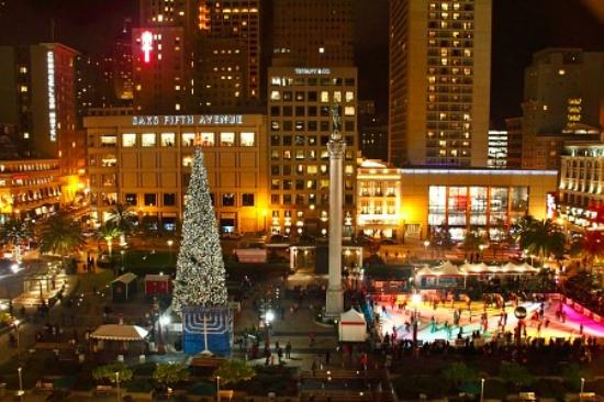 Christmas time in Union Square - Picture of Chancellor Hotel on ...
