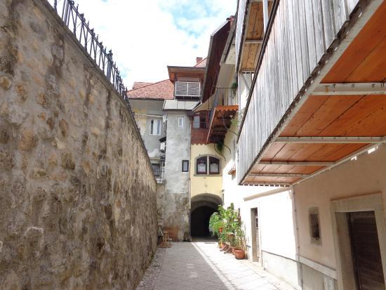 Radovljica, Slovénie : old town wall