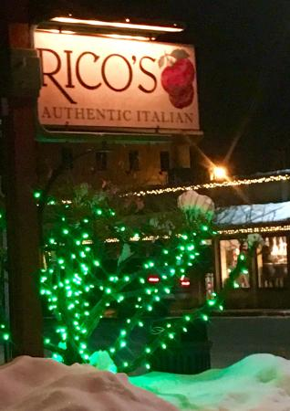 Rico's Authentic Italian: The sign is easy to spot.