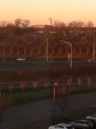 Hilton Garden Inn Tuscaloosa: view of the stadium from our hotel
