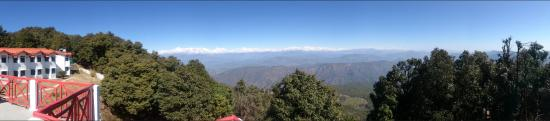 Binsar, India: A panorama view