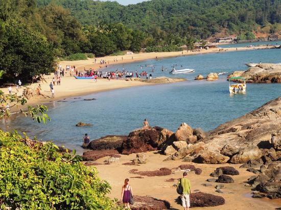 Image result for om beach gokarna