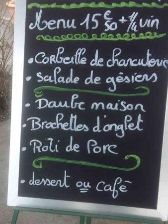 Haute-Garonne, Γαλλία: Menu du jour