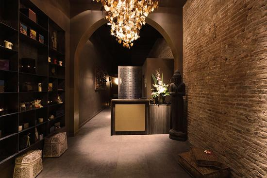 The Spa Rooms, Jacuzzi bath and the lights in the bath changes. The ...