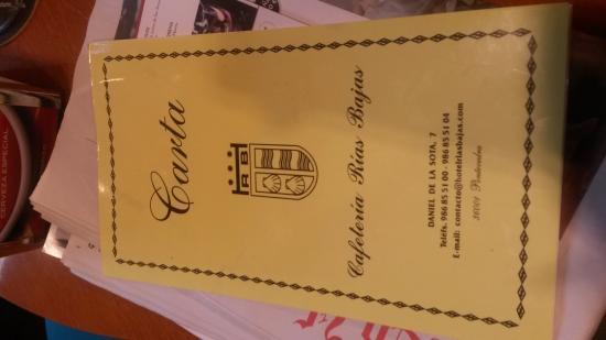 Hotel Rias Bajas: Carta