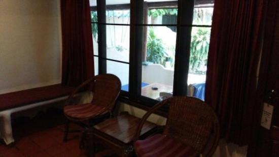 Papillon Resort: 部屋と外のスペース