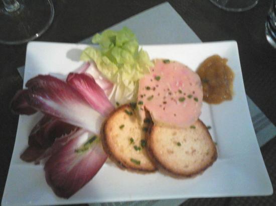Le Passage, França: Foie gras mi-cuit