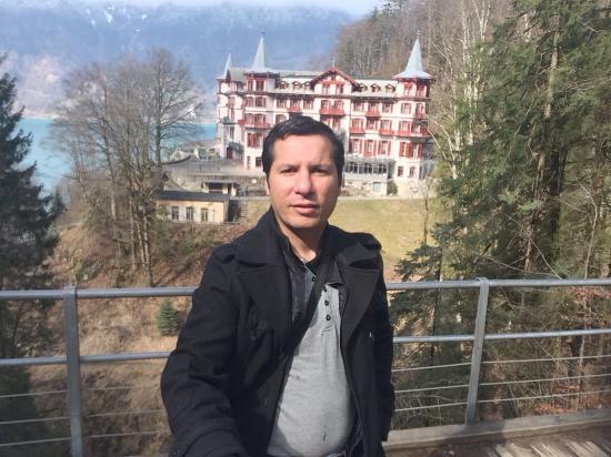 Giessbach, Swiss: hotel behind me