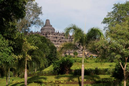 view of borobudur from hotel complex picture of hotel manohara rh tripadvisor ca