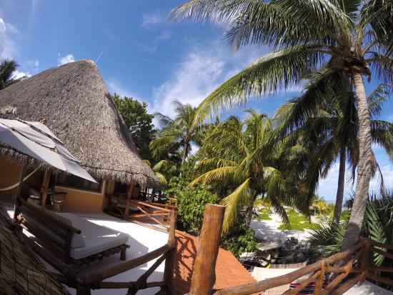 Blick von der terrasse picture of holbox hotel mawimbi for Villas hm paraiso del mar holbox tripadvisor