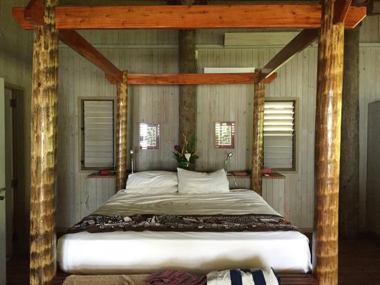 Beqa Island, Fiji: Ocean view villa bedroom