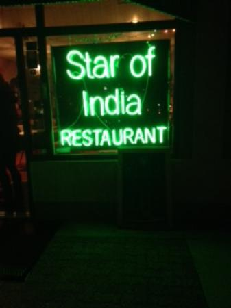 The outside sign picture of star of india restaurant for Amruth authentic indian cuisine little rock ar
