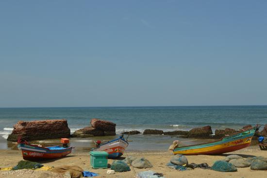 Tharangambadi, الهند: The sea view