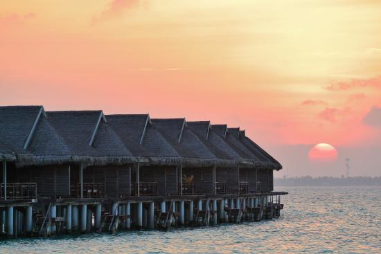 LUX* South Ari Atoll: Cabañas overwater al atardecer