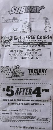 Somerset, PA: $5.30 Hannah