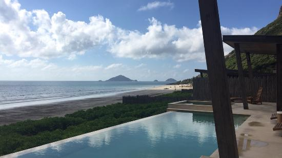 view of the infinity pool and beach picture of six senses con dao rh tripadvisor co za