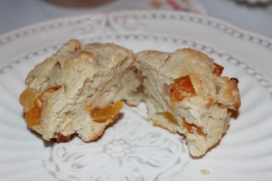 Bristol, NH : Yummy apricot scone!