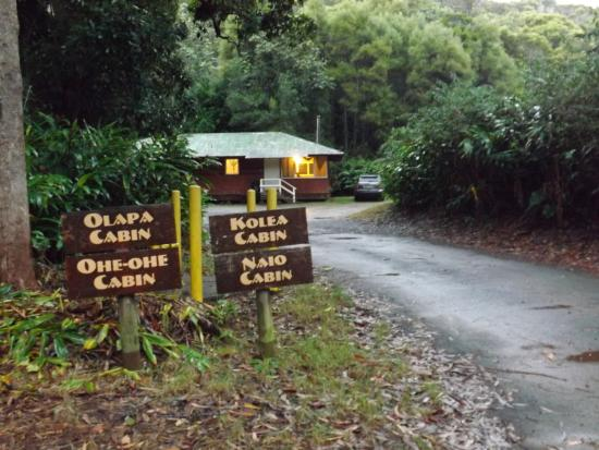 Waimea Canyon: Names of each cabin
