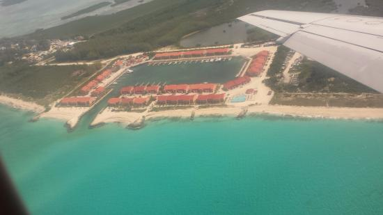 Bimini Sands Resort and Marina: Resort from plane