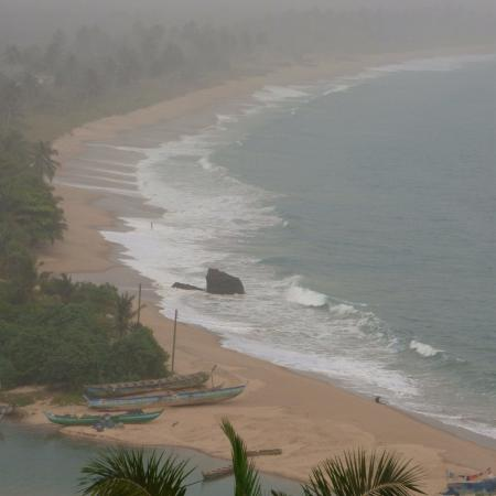 Busua, Ghana: View for the Dutch Slave Fort overlooking the Butre Beach