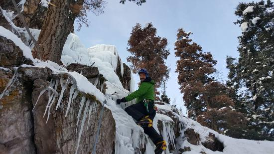 Ouray Ice Park: On the Scottish Gullies