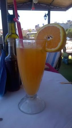 Katafygio: fresh orange juice