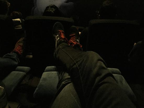 IMAX Melbourne Museum: Great to put your feet up (Premium Blue VIP Seats)