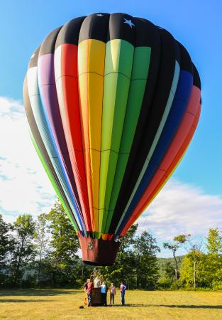 Balloons Over New England - Private Flights: Just after landing.