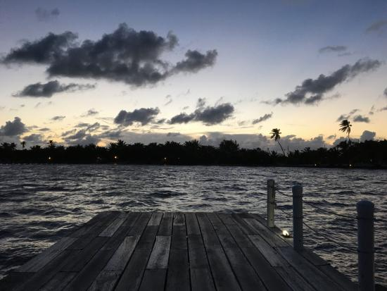 Las Terrazas Resort: Boat Dock waiting for Water Taxi to San Pedro