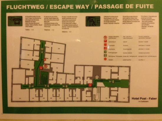 Hotel Post-Faber: First Floor Plan