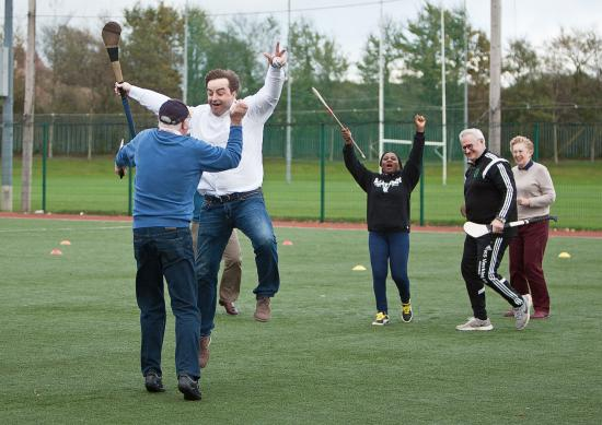 Clash Gaelic Games: Clash jumping and celebrating