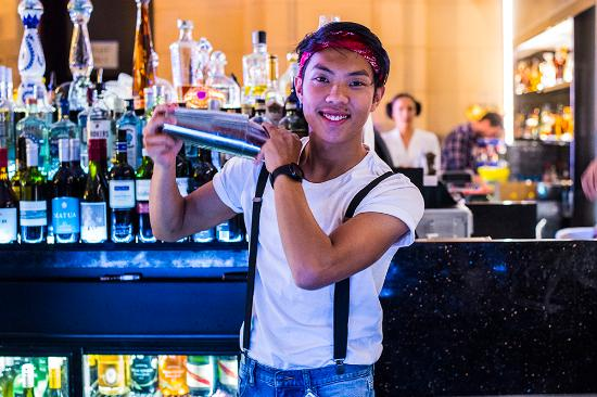 Staff at Adelaide Casino\'s Chandelier Bar on New Year\'s Eve ...