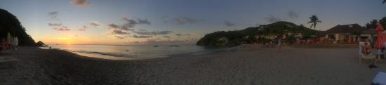 BodyHoliday Saint Lucia: Panoramic sunset view from the resort's beach.