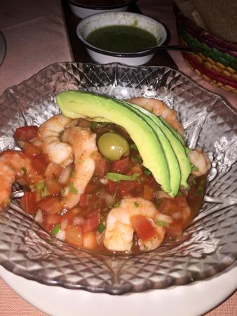 Shrimp, avacado dish