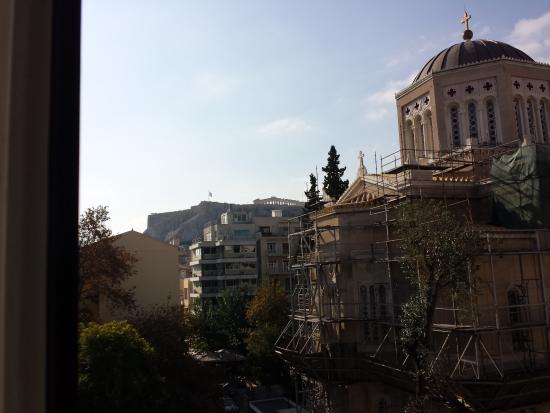 Hotel Metropolis: vista de la acropolis desde la habitacion