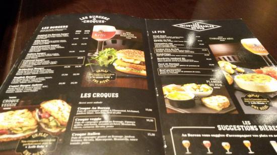 burgers croque monsieur picture of au bureau paris tripadvisor. Black Bedroom Furniture Sets. Home Design Ideas