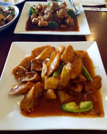 Omi: Garlic Sauce Eggplant and Sesame Chicken - Picture of Omi, Baton ...